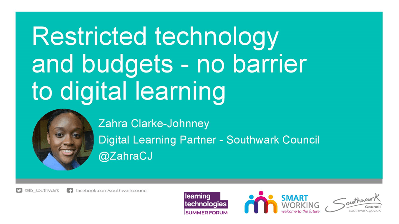 Restricted technology and budgets - no barrier to digital learning