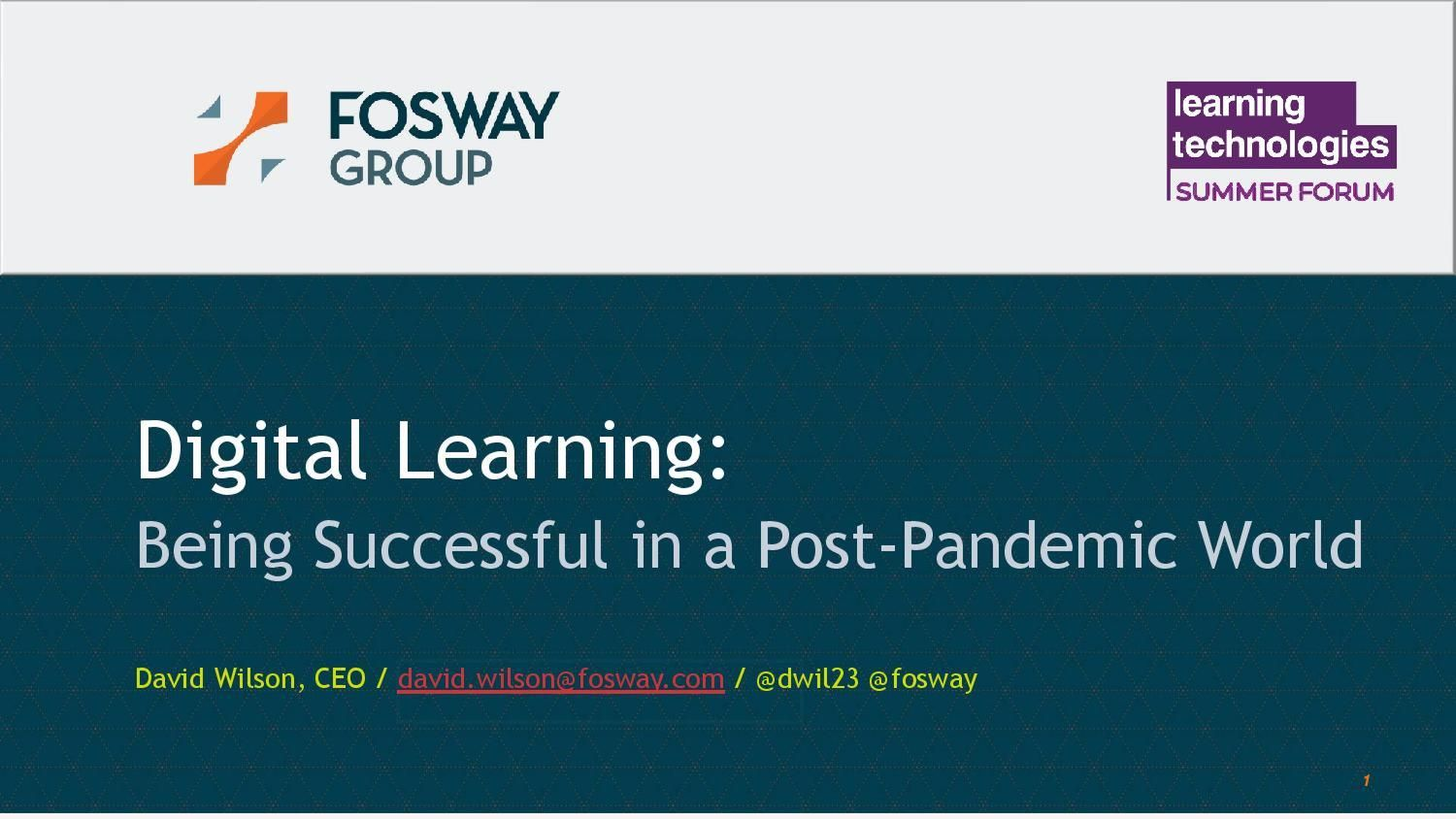 Digital learning: Being successful in a post-pandemic world