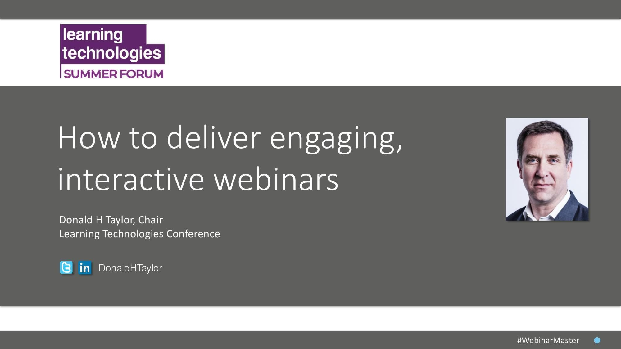 How to deliver engaging, interactive webinars