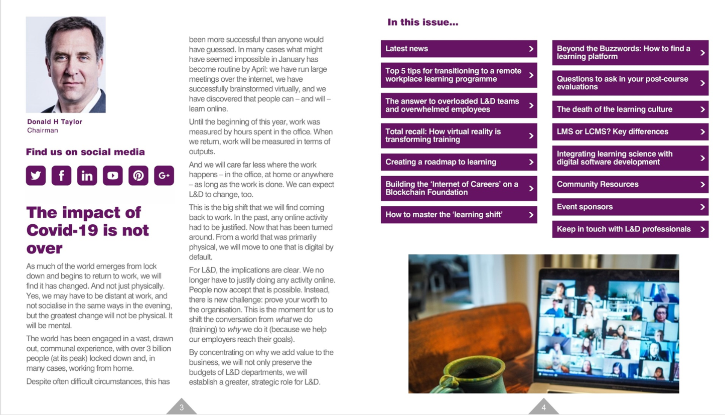 Inside Learning Technologies e-magazine - Issue 20