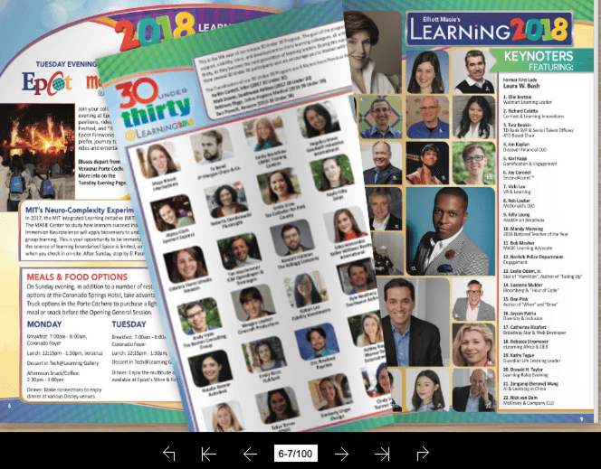 Learning 2018 Guide Flip Book
