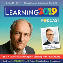 Learning 2019 Podcast Featuring Nigel Paine