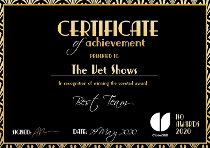Vet Show Team – Best in Show(s)