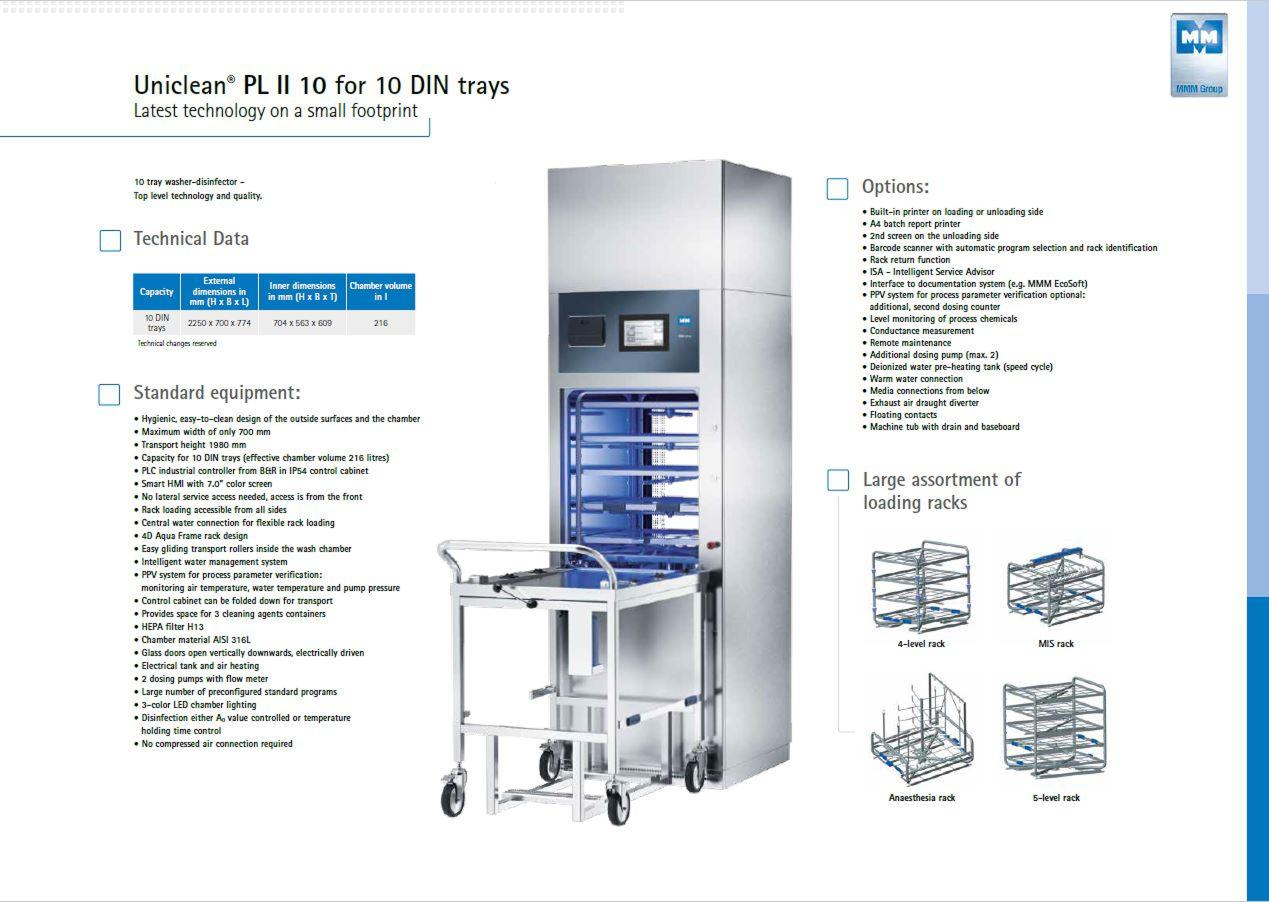 Uniclean PL II 10 Washer Disinfector
