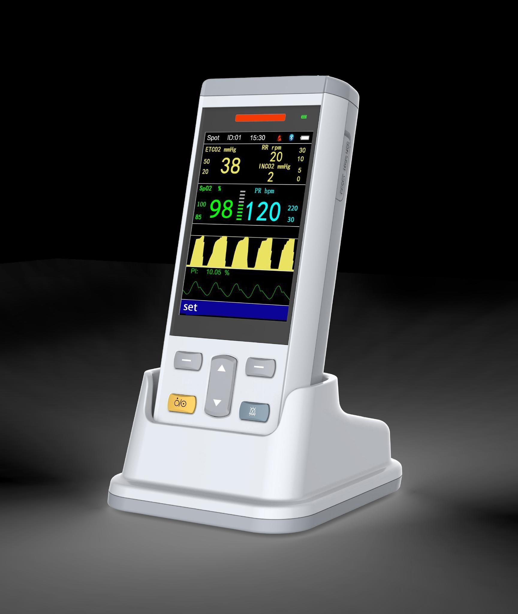 Vet Vital Sign Monitor--SpO2, NIBP, TEMP, EtCO2