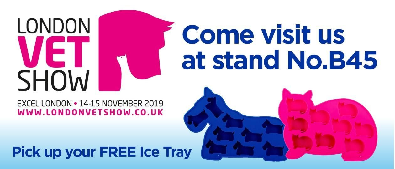 FREE DOG AND CAT ICE TRAYS AT ORALADE STAND B45