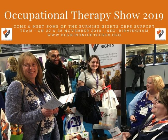Burning Nights CRPS Support Exhibits At The OT Show 2019