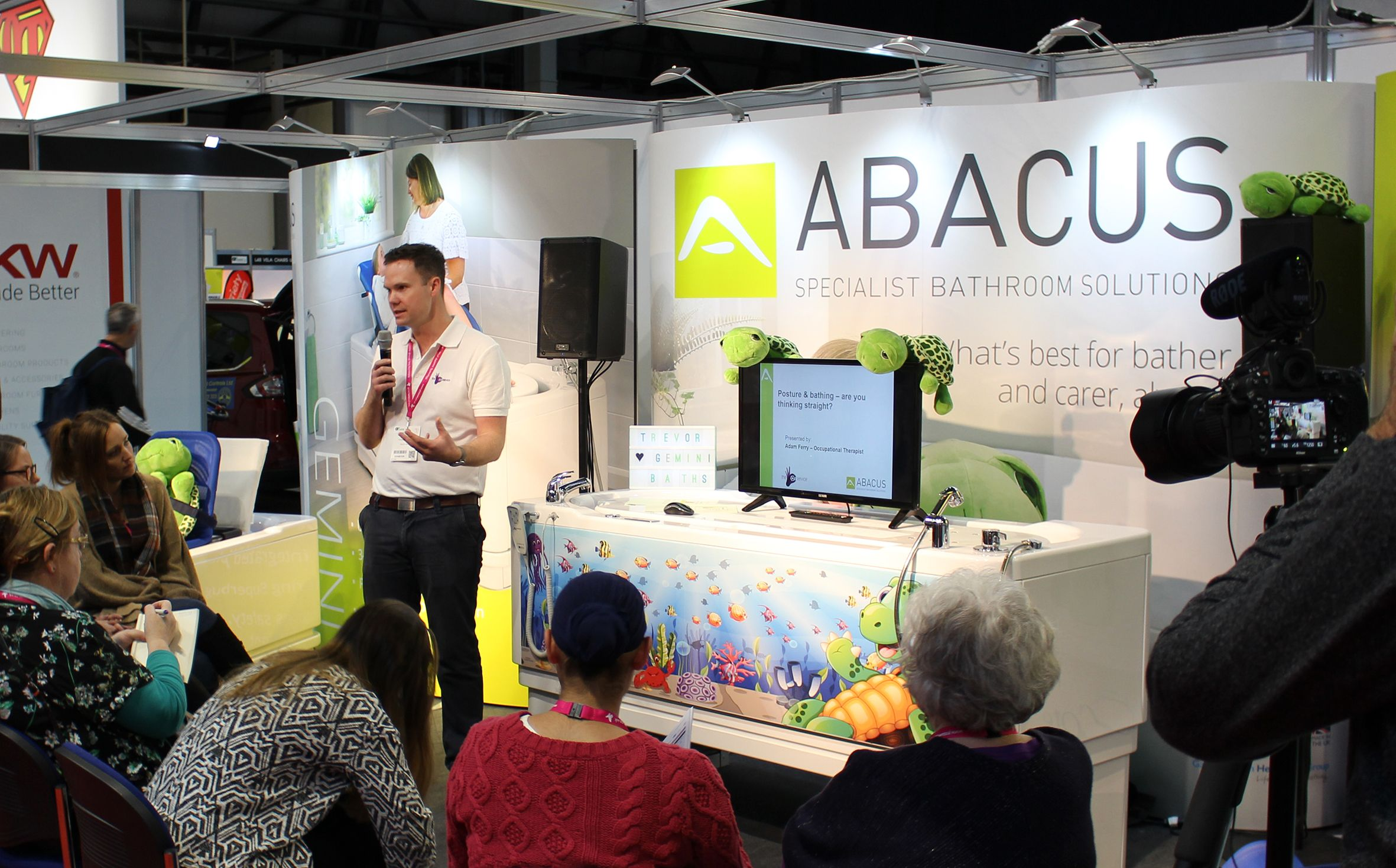 Abacus to present 'express' on-stand bathing CPD  education at Occupational Therapy Show