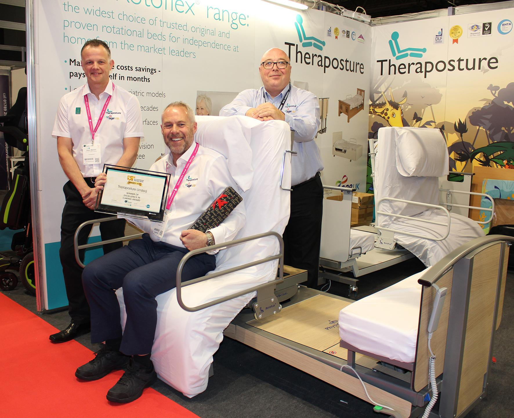 Award-winning Theraposture returns to OT Show with latest Rotoflex and adjustable bed innovations