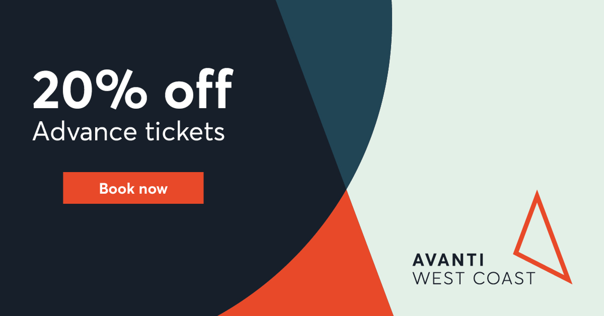 Avanti West Coast Trainline discount for Pharmacy Show