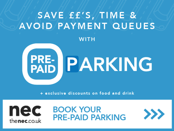 Prepaid parking at the NEC for Pharmacy Show
