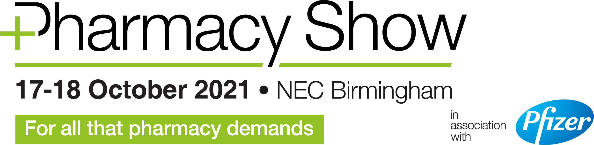 The Pharmacy Show will take place 17th & 18th October 2021 at Birmingham NEC
