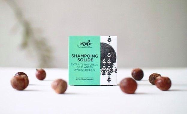 Shampoing solide de la marque Melo Ayurveda
