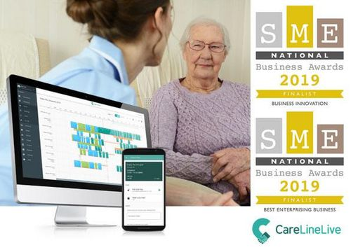 CareLineLive Nominated as Finalist for Latest Innovations  in SME National Business Awards