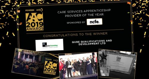 Qube Learning Awarded 'Care Services Apprenticeship Provider 2019'