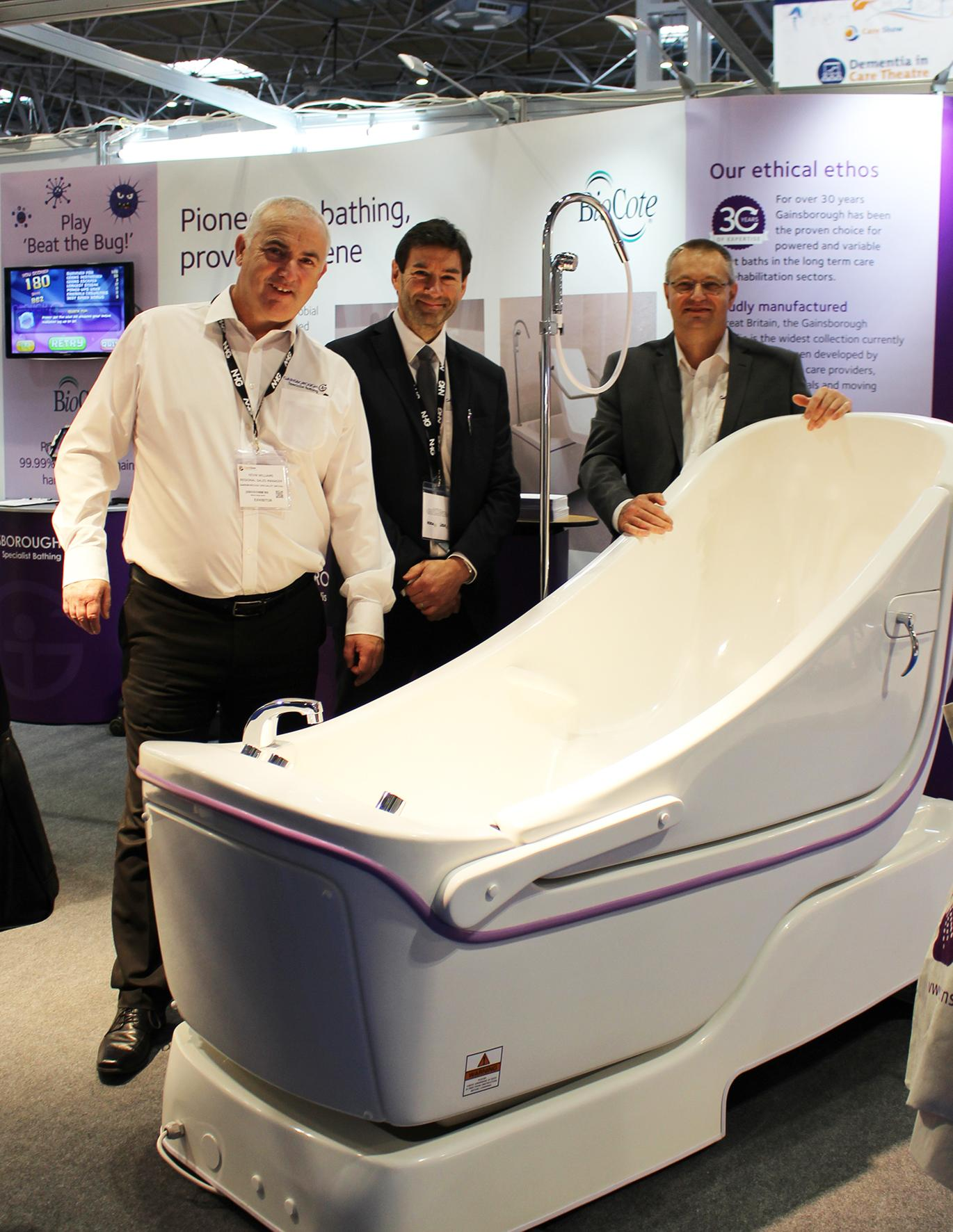 Gainsborough to showcase Sentes reclining bath  CQC excellence at Care Show
