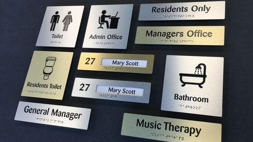 Indicia Braille & Tactile Signs