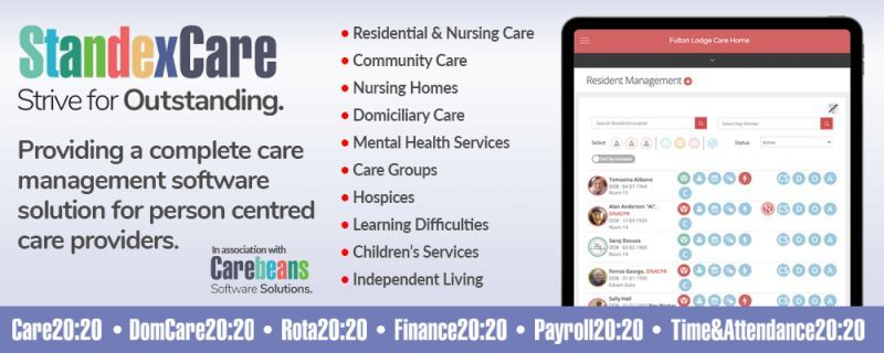 Standex Care 20:20 Digital Care Management Systems