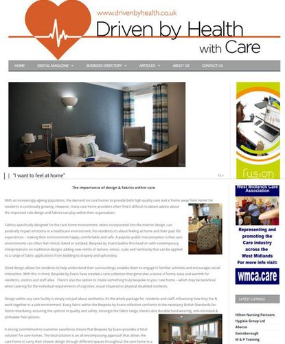The importance of design and fabric within care