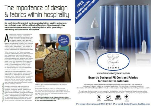 The importance of design and fabric within hospitality