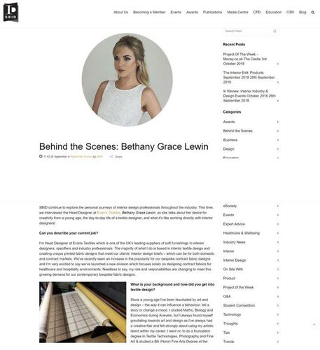 Behind the scenes: Bethany Grace Lewin