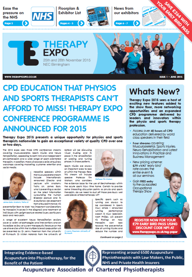 Therapy Expo Newspaper November 2015