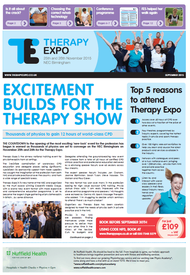 Therapy Expo Newspaper September 2016