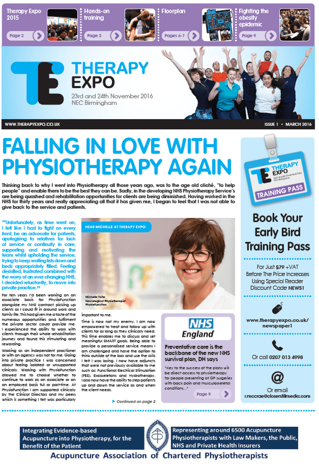 Therapy Expo Newspaper March 2016