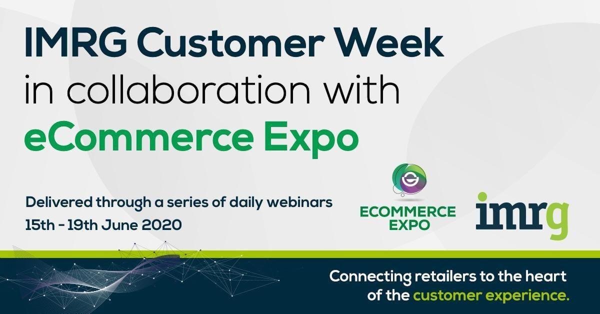 IMRG Customer Week eCommerce Expo Banner