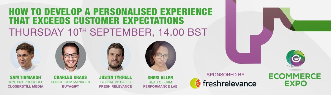 Watch 'How to develop a personalised experience that exceeds customer expectations' webinar on-demand