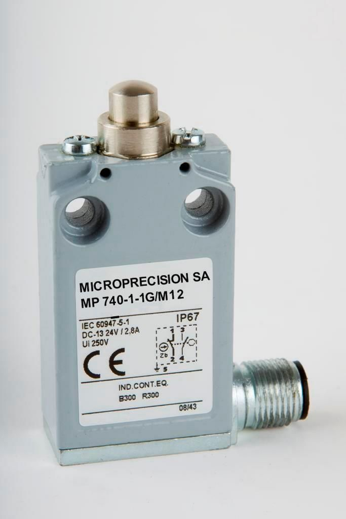 Sealed limit switches come with M12x1 Connector
