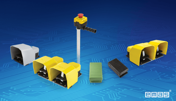 Foot Switches, including Potentiometer design, EMAS Stand S230