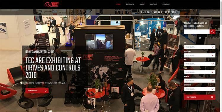 New TEC website being released at Drives and Controls 2018!
