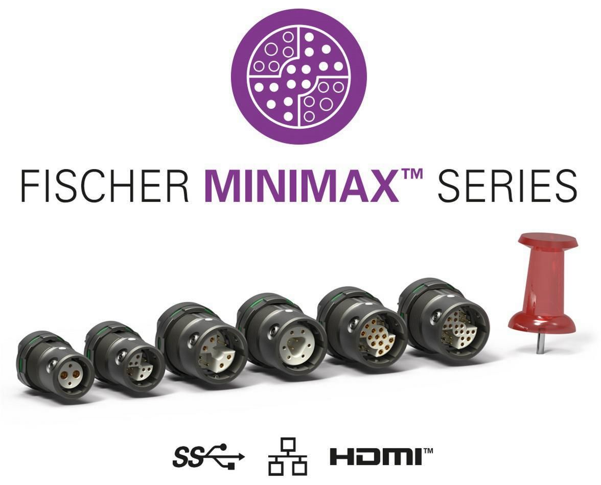 Miniature high-speed data connectivity: Fischer MiniMaxTM Series now available with AWG24 Ethernet and IP68 sealing down to 20m/24h