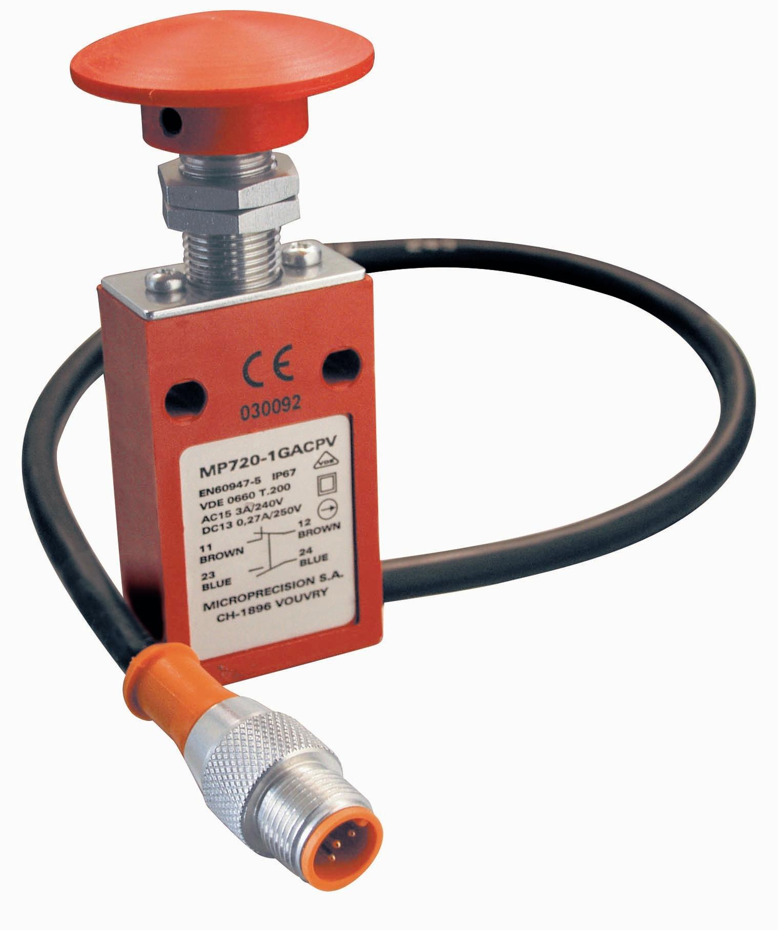 SAFETY, LIMIT AND EMERGENCY STOP SWITCHES