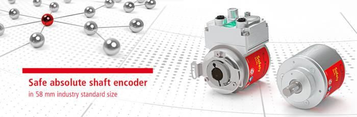 Currently smallest absolute rotary encoder for applications requiring SIL 3 safety.