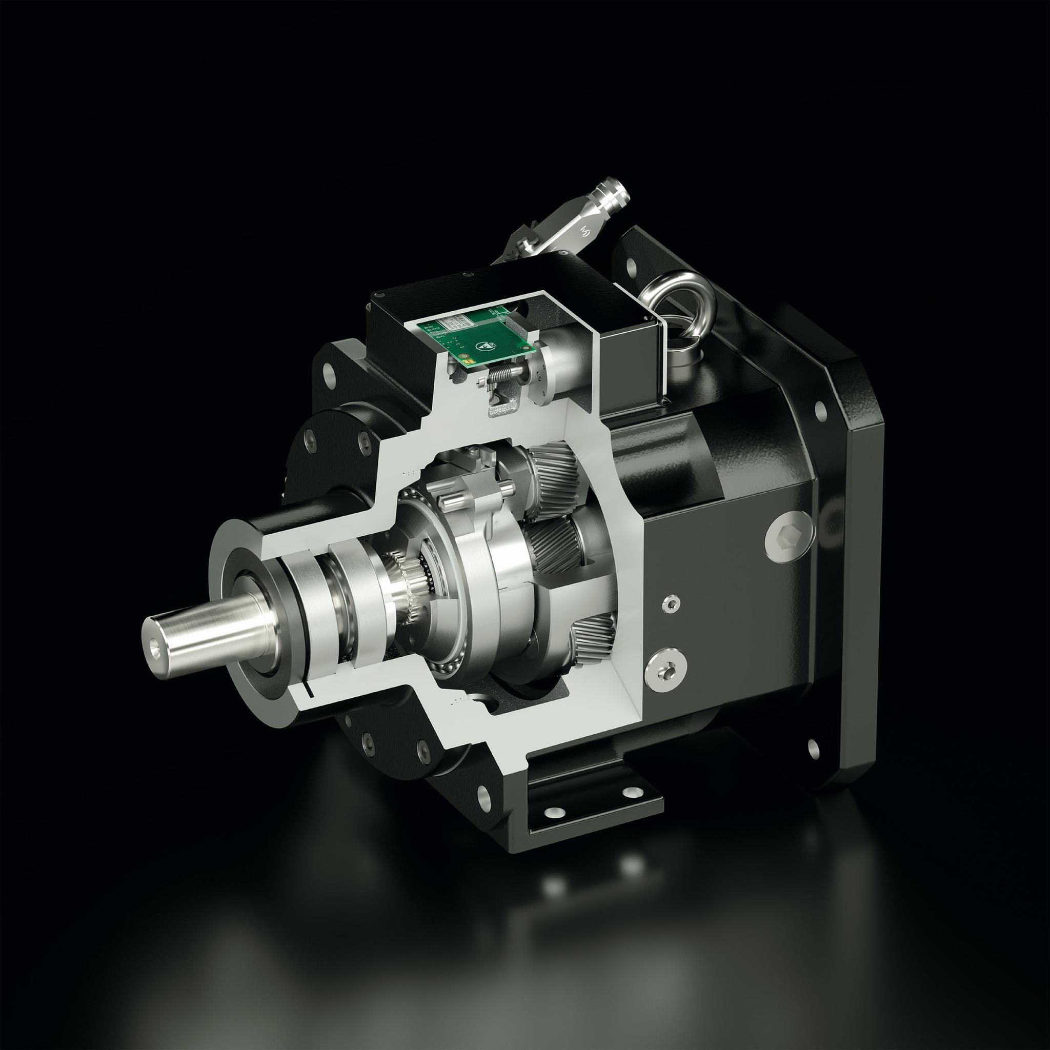 STOBER's PS Two-Speed Gearbox with SensorShift for smooth power transmission, reduced wear and improved cost-efficiency