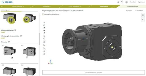 Online Configurator Tool allows design engineers to create their own drive specifications quickly and easily