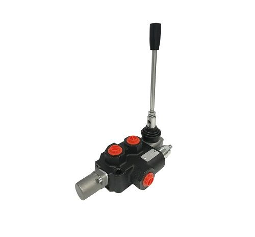 Flowfit 1 Bank, 3/8 BSP, 45 L/Min Double Acting 3 Position Spring Return Lever Operated Hydraulic Monoblock Valve