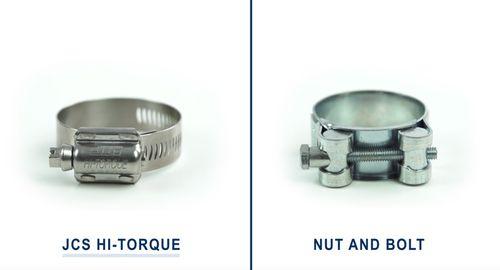 JCS Hi-Torque Hose Clamps vs Nut and Bolt Hose Clamp