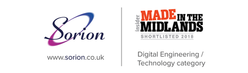 Sorion shortlisted for Digital Engineering / Technology Award