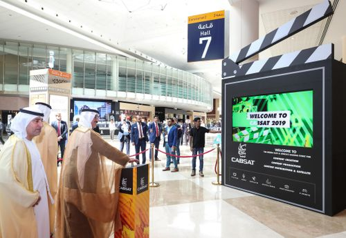 His Highness Sheikh Hasher Bin Maktoum Al Maktoum, Director General of Dubai Department of Information, opens CABSAT 2019
