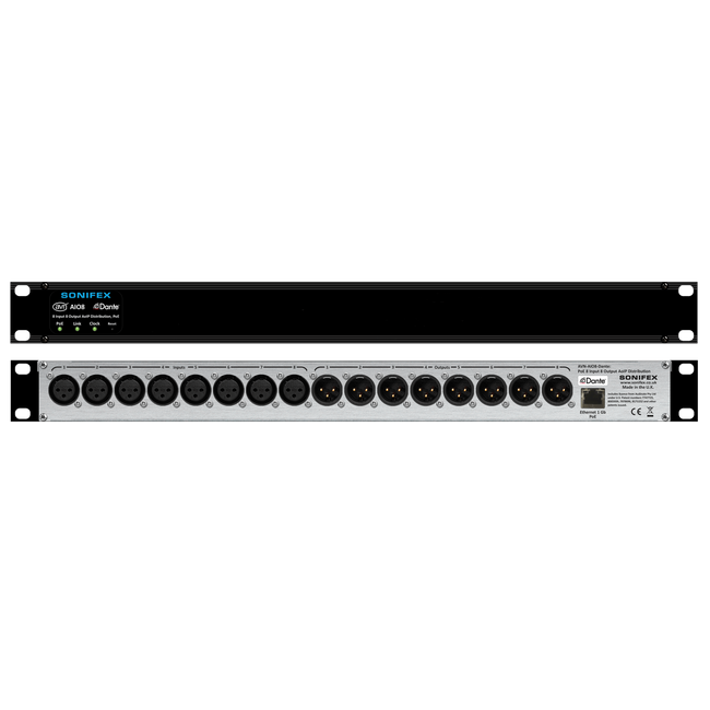 4, 8 & 16 Channel Dante® Audio Interfaces by Sonifex