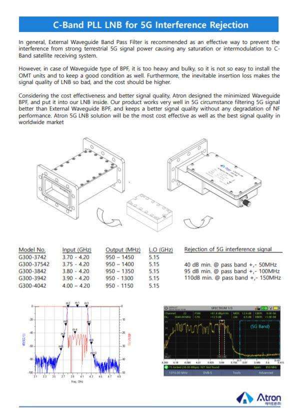 C-Band PLL LNB for 5G Interference Rejection