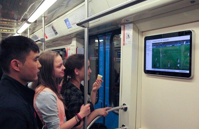TV Broadcasting in the Moscow Metro Trains