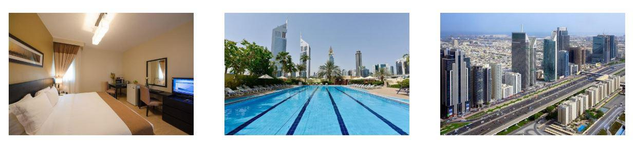Rooms, Pool and View at The Apartments Dubai World Trade Centre