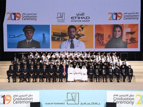 Etihad celebrates graduation of 140 Emirati aviation specialists