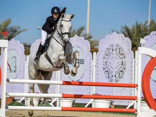 Emirati equestrian team claim goal at Arab Women Sports Tournament 2020