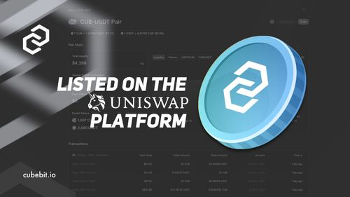 CubeBit: Cubecoin is listed on the Uniswap platform