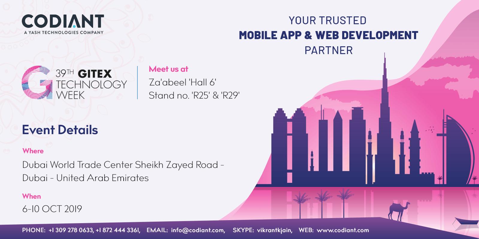 CODIANT INVITES YOU TO GITEX TECHNOLOGY WEEK DUBAI '6-10 OCT 2019